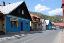 The bourgeois buildings in Muszyna