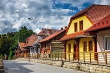 The wooden buildings in Zakliczyn